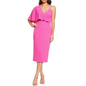 ✨HOST PICK✨💕 DRESS THE POPULATION Asymmetrical Ruffle Sleeve Beth Dress